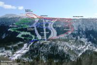 Uvdal Skisenter Mapa de pistas