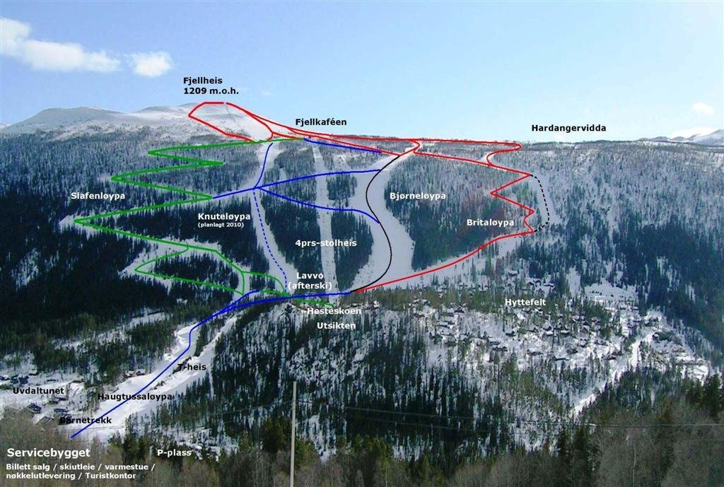 uvdal alpinsenter kart Skikart og løypekart for Uvdal   Skiinfo.no