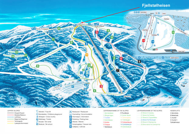 Valdres Trail Map