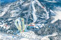 Varingskollen Alpinsenter Mapa de pistas