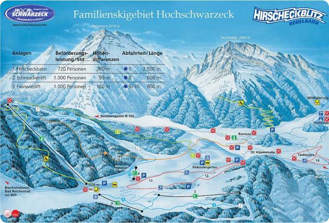 Hochschwarzeck Mapa tras