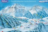 Hochschwarzeck Mapa sjezdovek