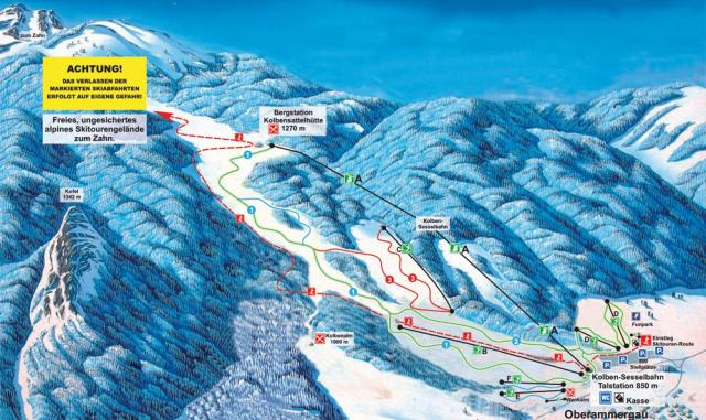 Kolben - Oberammergau Trail Map