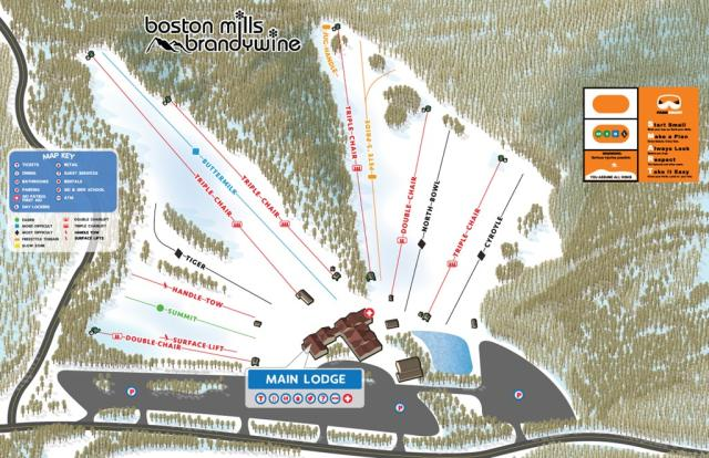 Boston Mills Mappa piste