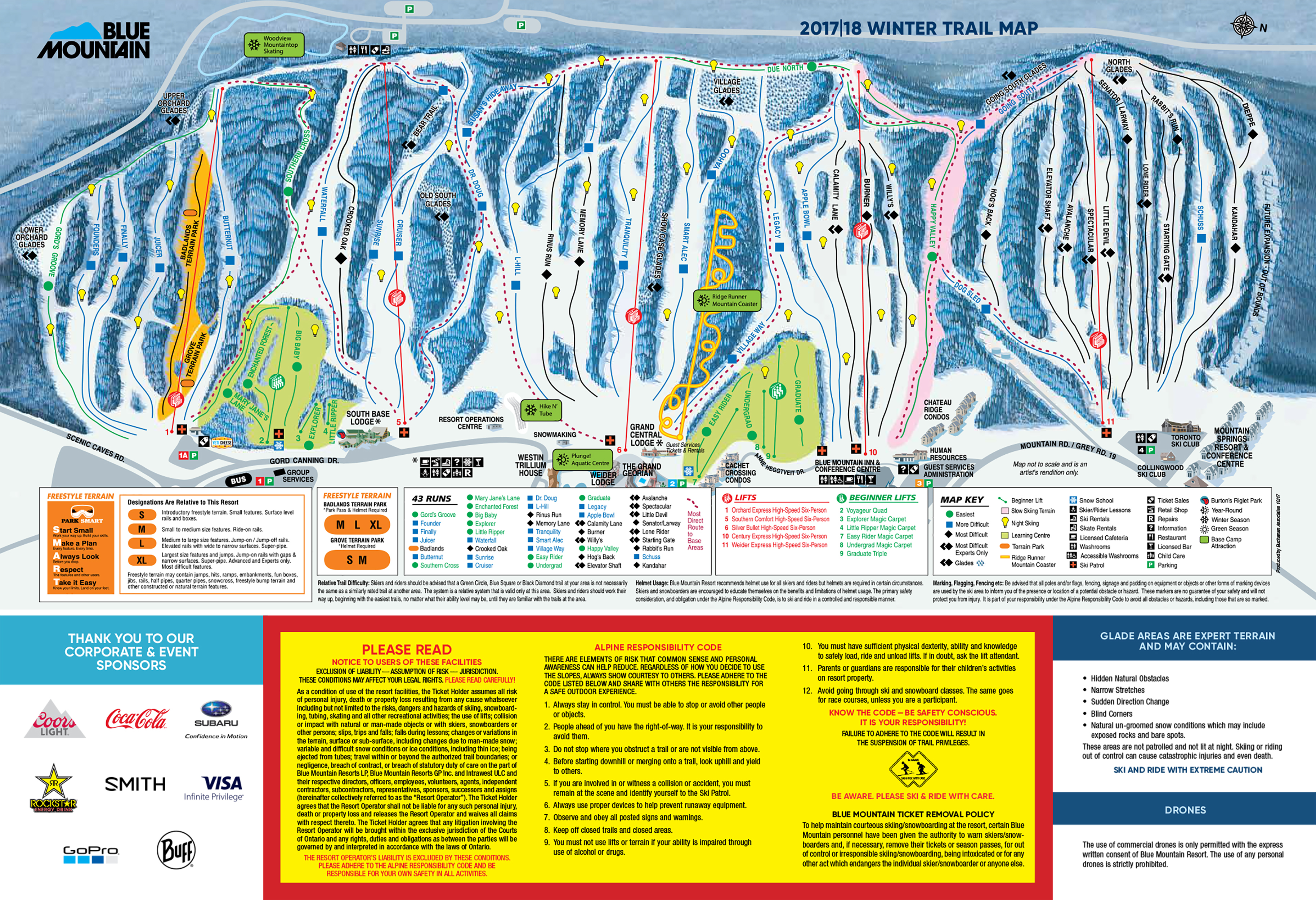 blue mountain trail map | onthesnow