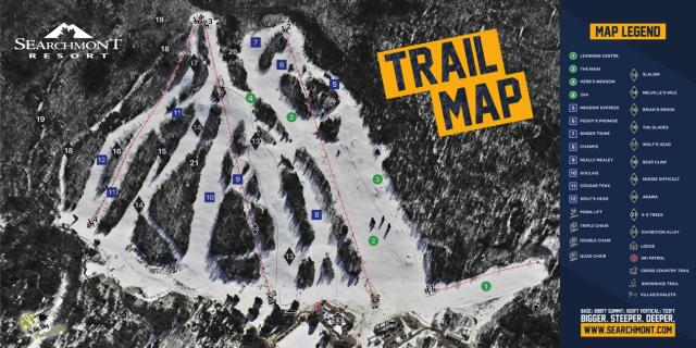 Searchmont Resort Trail Map