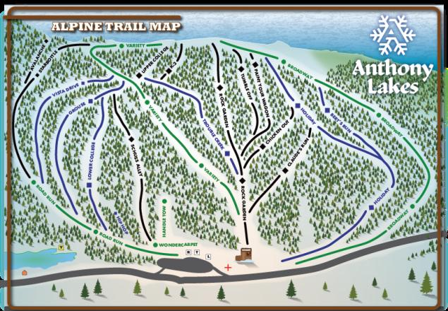 Anthony Lakes Mountain Resort Trail Map