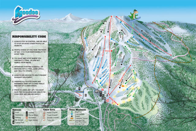 Hoodoo Ski Area Trail Map