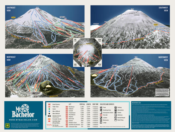 Mt. Bachelor Trail Map