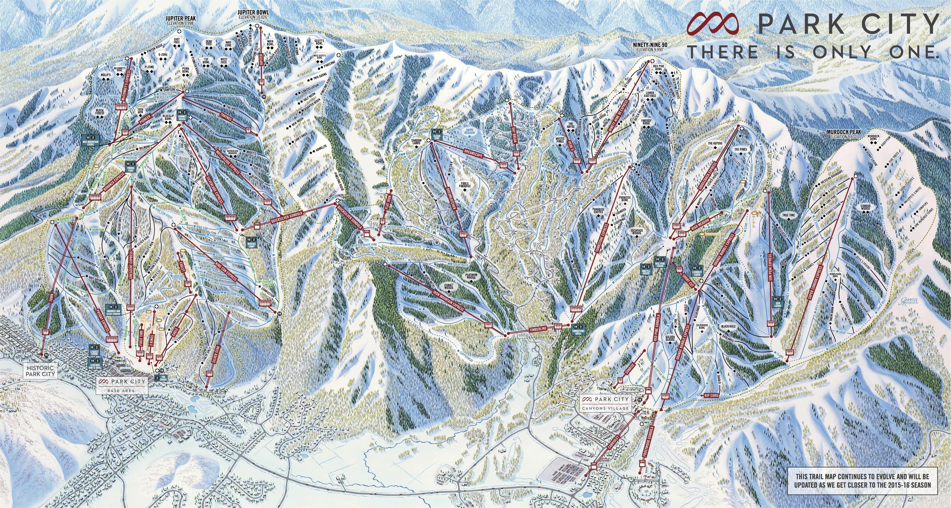 Map Of Park City Park City Mountain Resort Night Skiing Map Of Utah