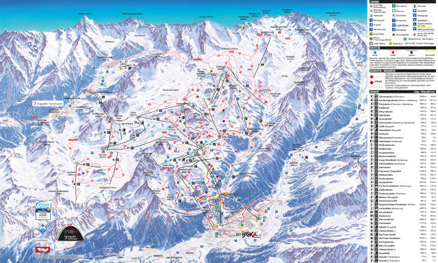 Ischgl Trail Map