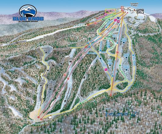 Blue Knob Trail Map