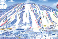Roundtop Mountain Resort Plan des pistes