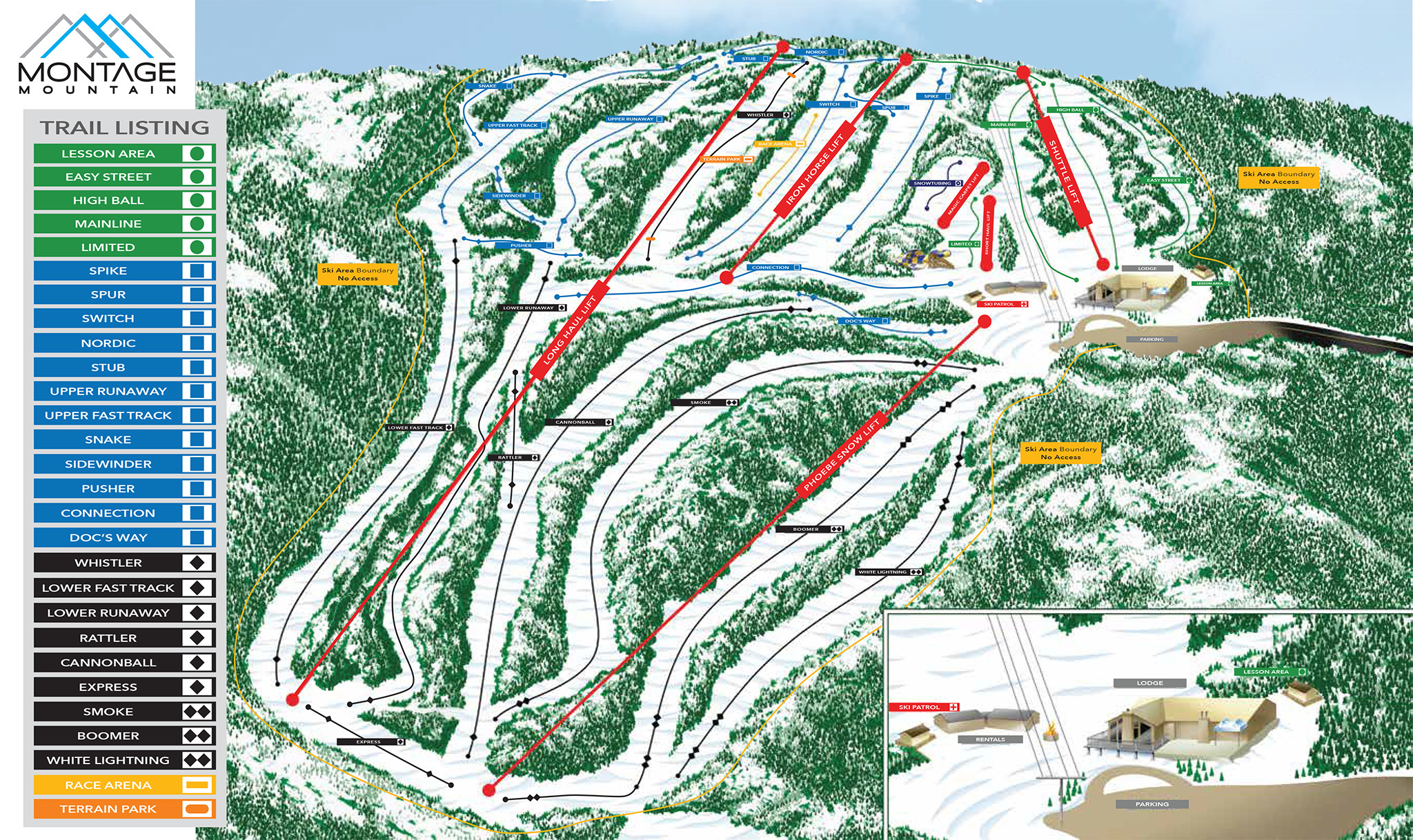 Montage Mountain Trail Map Onthesnow