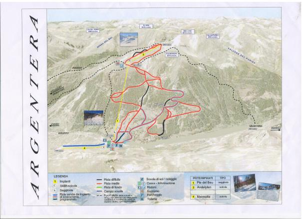 Argentera Trail Map