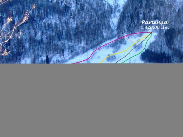 Canosio - Pra La Grangia Plan des pistes