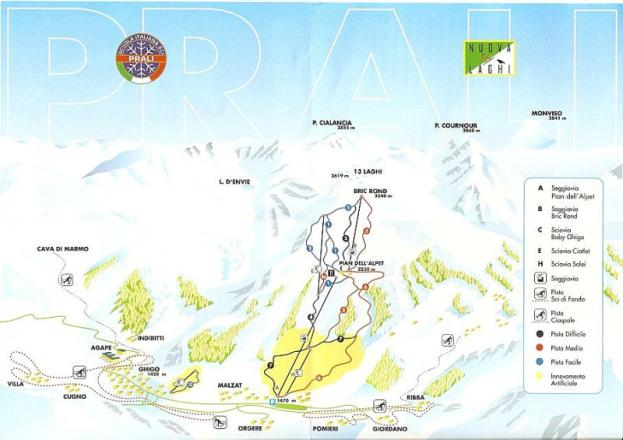 Prali Trail Map