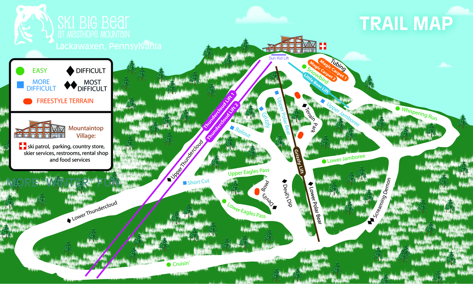 ski big bear trail map | onthesnow