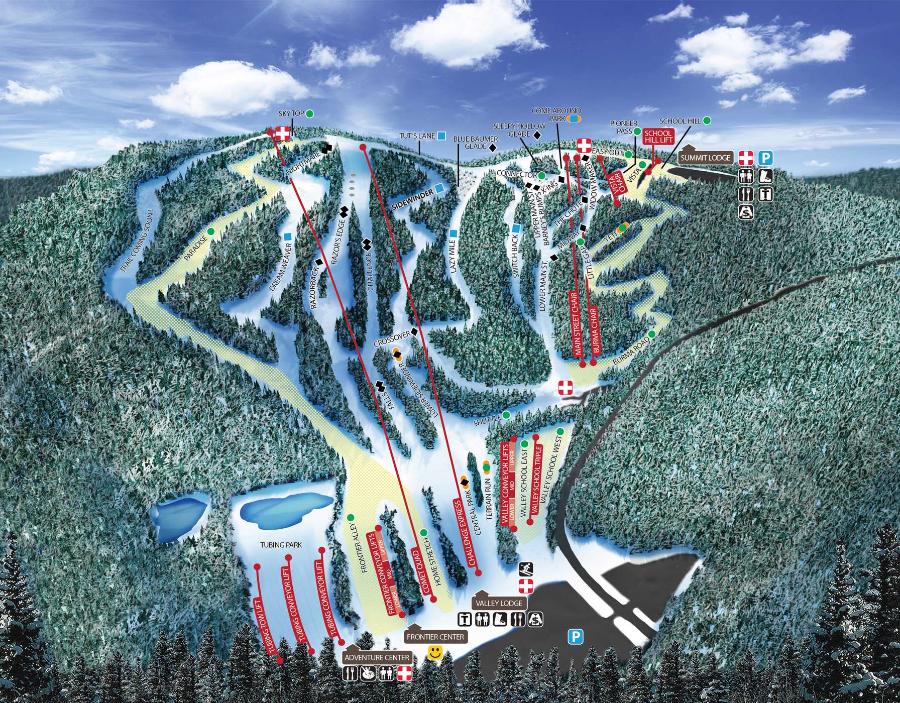 Blue Mountain Resort Trail Map Onthesnow