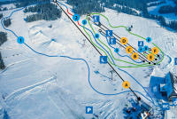 Koziniec ski Trail Map