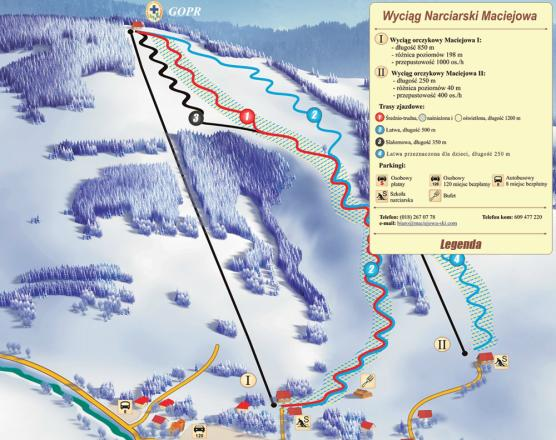 Maciejowa ski Trail Map