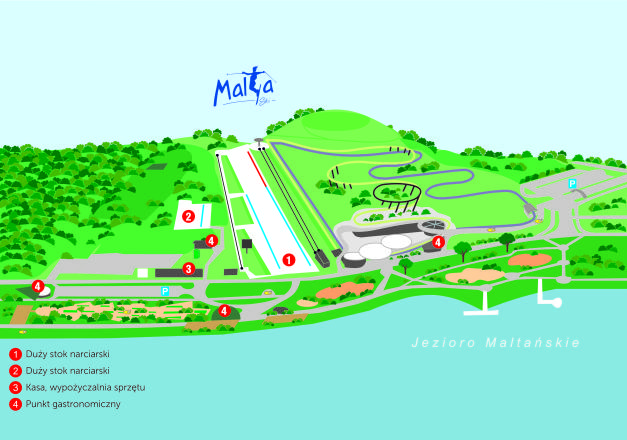 Malta Ski Trail Map
