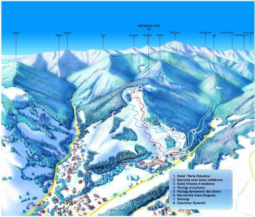 Rytro - Ryterski Raj Plan des pistes