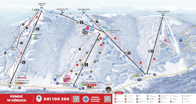 Szczyrk Mountain Resort Mappa piste