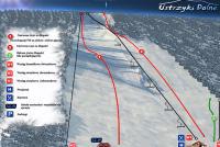 Ustrzyki Dolne - Laworta Mappa piste