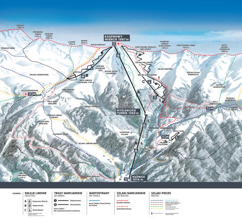 Zakopane - Kasprowy Wierch Trail Map