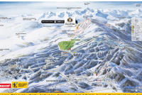 Bolquère - Pyrénées 2000  Mapa de pistas