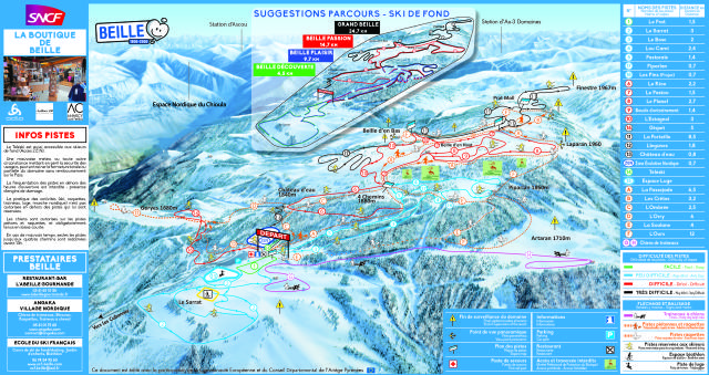 Beille Trail Map