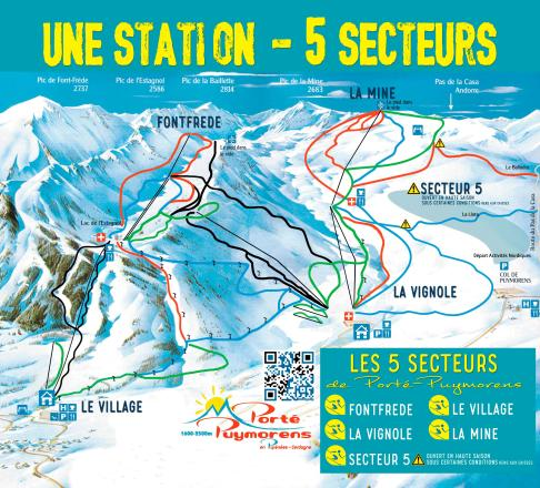 Porte Puymorens Trail Map