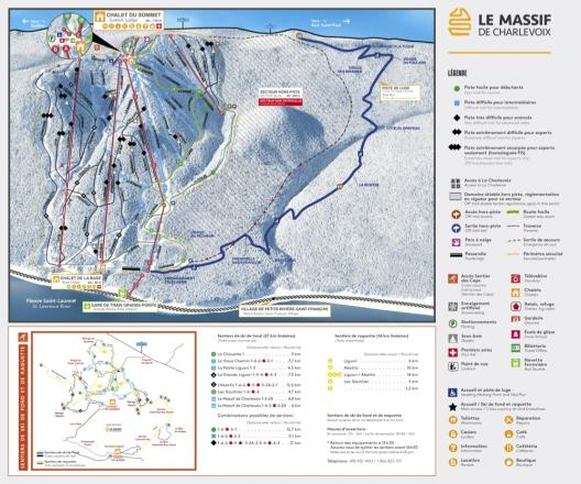 Le Massif Trail Map