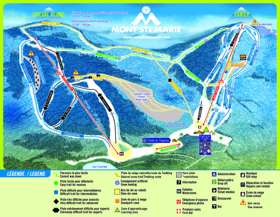 Mont Ste-Marie Trail Map
