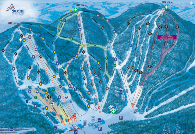 Stoneham Trail Map | OnTheSnow on