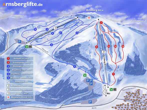 Arnsberg - Lift Trail Map