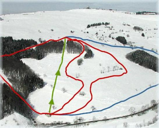 Zuckerfeld - Lift Piste Map