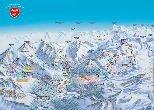 Saas Balen Trail Map