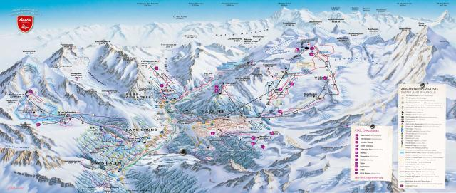 Saas Fee Trail Map