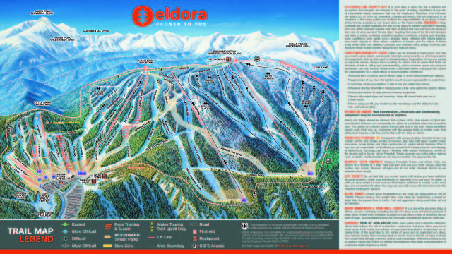 Eldora Mountain Resort Piste Map