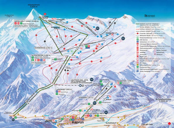 Maiskogel - Kaprun Trail Map