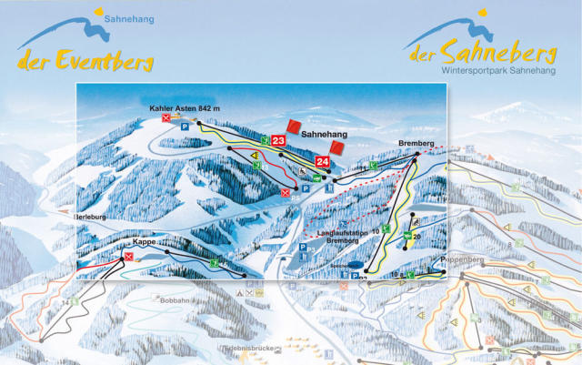 Sahnehang Piste Map