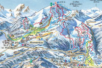 Bellevaux - Hirmentaz Mapa de pistas