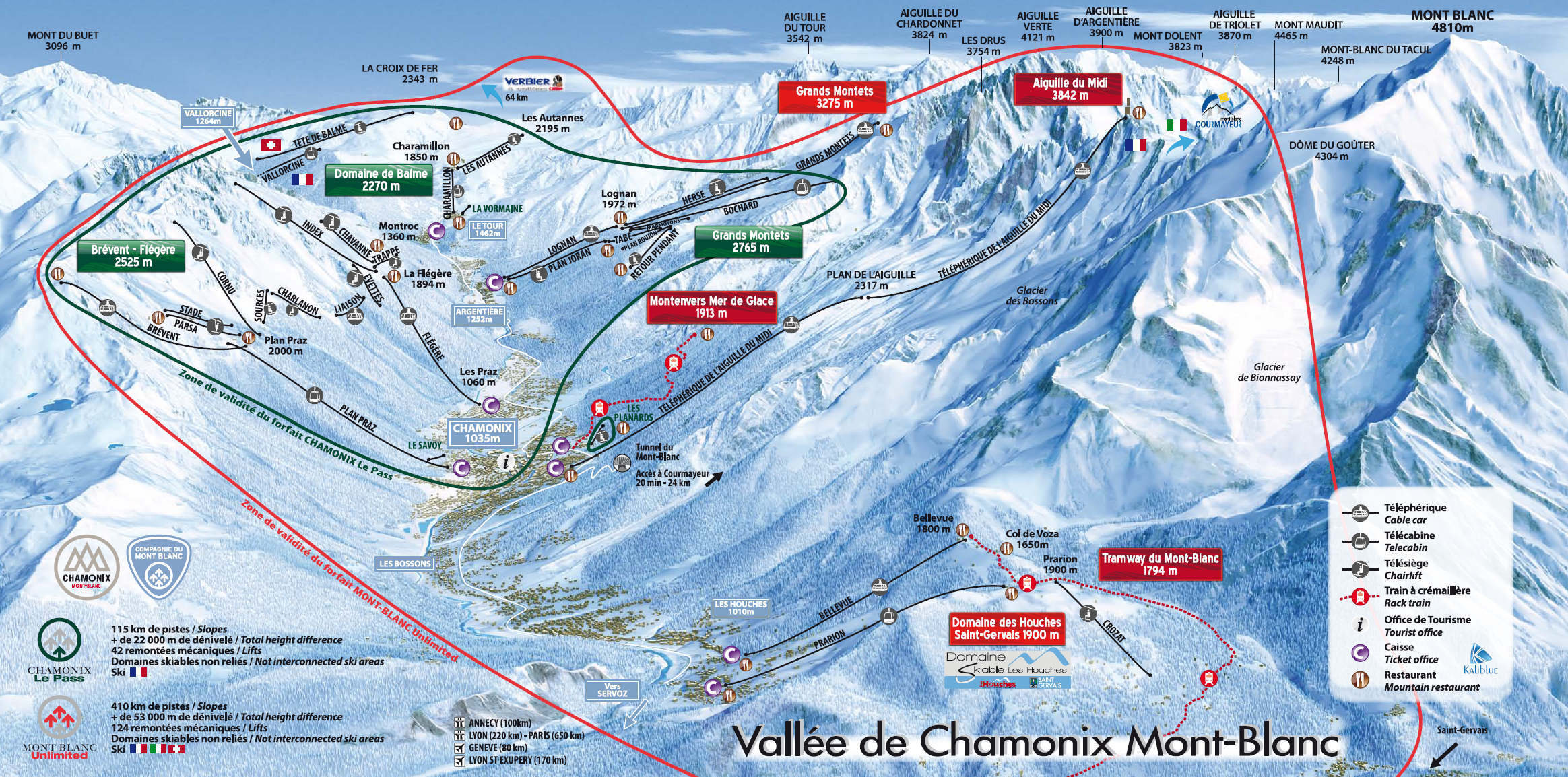Road Map Chamonix Mont Blanc Maps Of Chamonix Mont Blanc 74400
