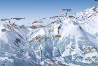 Champagny en Vanoise Mapa zjazdoviek