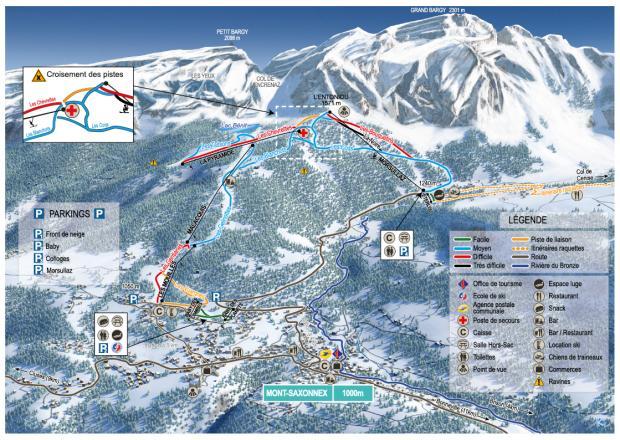 Mont Saxonnex Piste Map