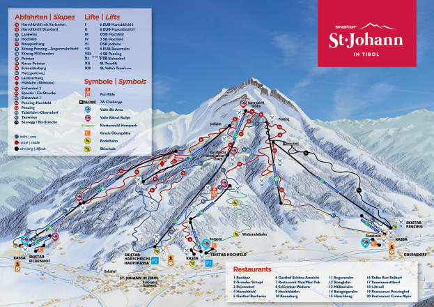 SkiStar St. Johann in Tirol Trail Map