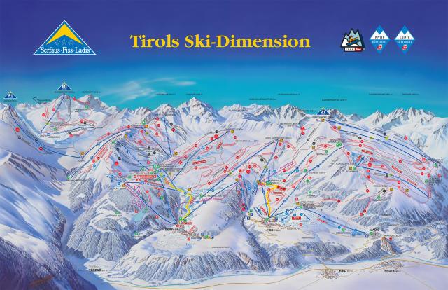 Serfaus Fiss Ladis Trail Map