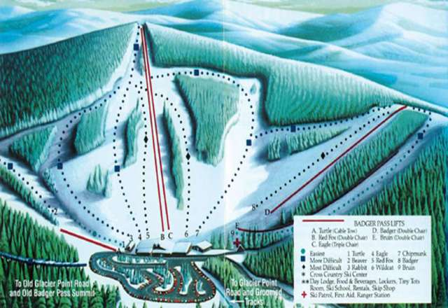 Yosemite Ski & Snowboard Area Trail Map